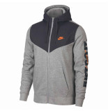 Nike M nsw hbr+ hoodie fz flc 038502 zwart