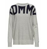 Tommy Hilfiger Tommy Hilfiger Sweater grijs Logocarier grijs melange