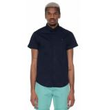 Scotch & Soda Casual shirt met korte mouwen blauw