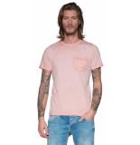 Victim T-shirt met korte mouwen roze