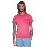 Victim T-shirt met korte mouwen fel roze