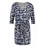 Penn & Ink S19f508 506-08 ny jurk all over print indigo cotton blauw