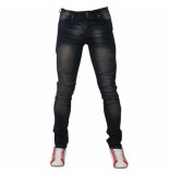 Bravo Jeans Heren jeans brown wash slim fit stretch lengte 34 donker blauw