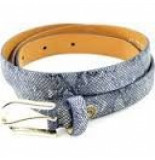 Unleaded Riem snake navy blauw