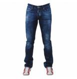 Cobbelti Heren jeans damaged look paint splash lengte 36 stretch blauw