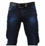 Cobbelti Heren jeans met gratis riem blue wash stretch lengte 36 dark blue blauw