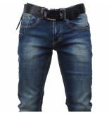 Cobbelti Heren jeans met gratis riem slim fit stretch lengte 36 denim blauw