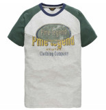 PME Legend R-neck baby terry t-shirt bone white groen