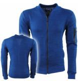 MZ72 Heren vest sweat rits jorel donker blauw