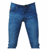 Hakkers Paris Heren jeans white wash slim fit stretch lengte 34 licht blauw