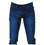 Hakkers Paris Heren jeans blue wash slim fit stretch lengte 34 blauw