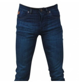 Hakkers Paris Heren jeans green wash slim fit stretch lengte 34 donker blauw