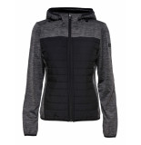 Only Play Vera quilted hood jacket 042003 antraciet