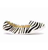 Butterfly Twists Dames ballerina's zebra pony wit