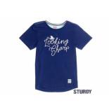 Sturdy Shirt korte mouw looking sharp indigo blauw