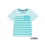 Sturdy Shirt korte mouw streep scuba mint groen