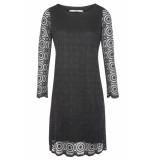 Flore Dress lace black zwart