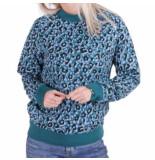 Colourful Rebel Leopard sweat blauw