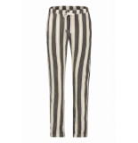 Penn & Ink S19f456 90-650 ny broek stripe black havana