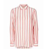 Mos Mosh 121161 329 mosmosh kayla stripe shirt rococco red stripe