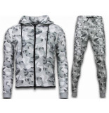 CABAN Exclusive windrunner camo trainingspakken wit