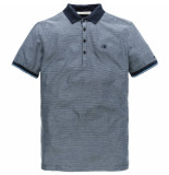 Cast Iron Cpss191552 5287 short sleeve polo mercerized jacquard jersey dark sapphire blauw