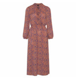 Sisters Point Maxi jurk nano leopard oranje