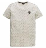 PME Legend Short sleeve r-neck nep yarn jerse bone white