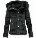 Z-design Suede jas zwart