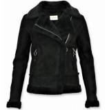 Z-design Bikerjack dames zwart