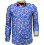 Gentile Bellini Italiaanse overhemden blauw