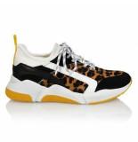 DWRS Sneaker riga leopard geel