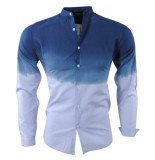 Paname Brothers Heren overhemd slim fit ciota blauw