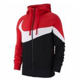 Nike M nsw hbr hoodie fz bb stmt 041078 rood