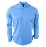 Ferlucci Heren overhemd napoli stretch blauw