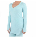 Reinders Reiders twin set sweater lurex blauw
