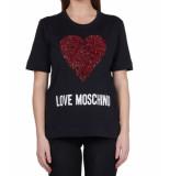 Love Moschino Love moschino signature tee – zwart