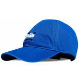 Superdry Wash twill cap stone royal blauw