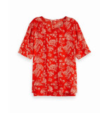 Maison Scotch 149800 17 allover printed ladder top combo a rood
