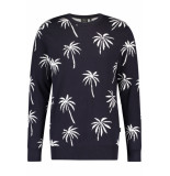 Kultivate Kn big palms dark navy blauw