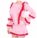 Reinders Reiders valerie ruffle top lurex roze