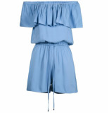 Jacky Luxury Off shoulder jumpsuit - blauw