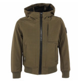 Airforce Kids softshell jacket chest groen