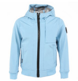 Airforce Kids softshell jacket chest blauw