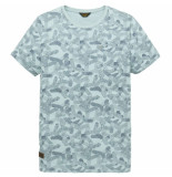 PME Legend Short sleeve r-neck single jersey cloud blue blauw