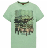 PME Legend Short sleeve r-neck deep grass green groen