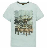 PME Legend Short sleeve r-neck cloud blue blauw