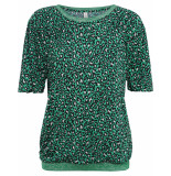 Summum 3s4242-30024 652 top leopard print leaf green groen
