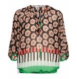Summum 2s2231-10803 120 top long sleeve transparant flower multicolour