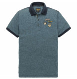 PME Legend Short sleeve polo space jersey salute blauw